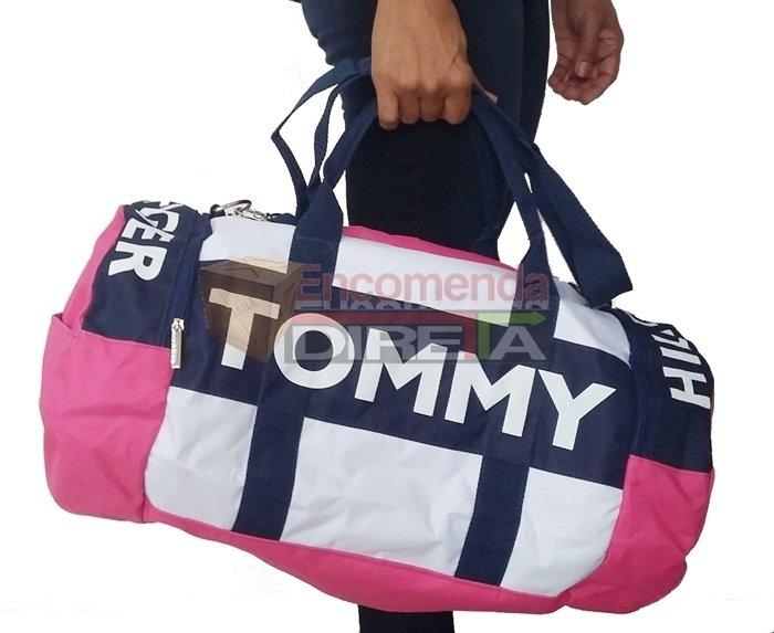 21763a8e8 Bolsa Tommy Hilfiger Duffle Mala de Bordo Rosa