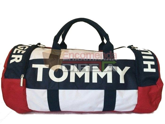 1cdba8373 Bolsa Tommy Hilfiger Duffle Mala de Bordo Vermelha