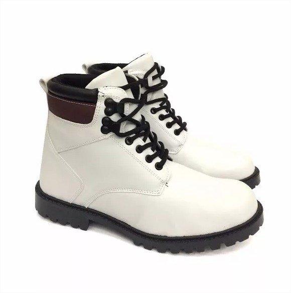 77218fd37d Coturno Masculino Sapato Social Adventure Cano Médio 42 Branco