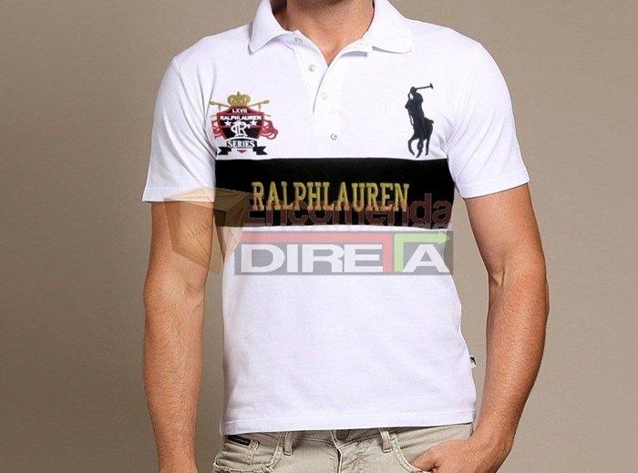 ... Camisa Polo Ralph Lauren Series Masculina Branca Estampada. Oferta 3bedebd3b02