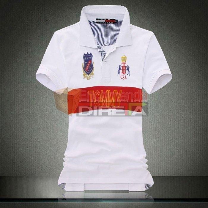 ... Camisa Polo Tommy Hilfiger Masculina Branca USA Estampada. Oferta a83eda43fc8