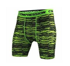 Shorts Legging Masculino Compressão Verde Risk Work Fit Cross Fit Running Gym