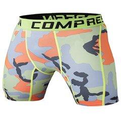 Shorts Legging Masculino Compressão Camuflado Colorful Work Fit Cross Fit Running Gym