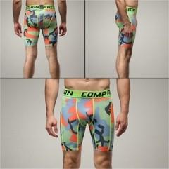 Shorts Legging Masculino Compressão Work Fit Cross Fit Running Gym