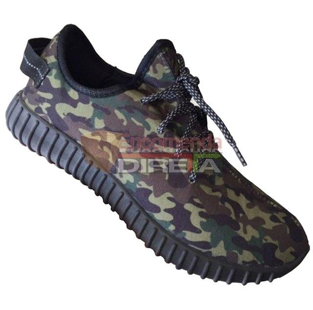 e4d2456655e Tênis Adidas Yeezy Boost Kanye West 350 Camuflado Exército