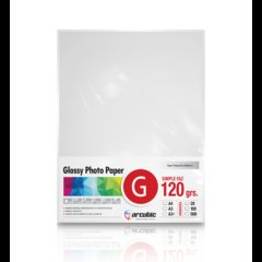 Papel Glossy 120g A4 x 100 Hojas