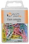 CLIPS COLORIDO 28MM C/80PCS CX (CX-N)123153