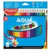 LAPIS DE COR C/24 PEPS AQUARELAVEL + PINCEL MAD (CX-N) -  124663