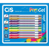 CANETA ESF POP GEL NEON+GLITER ESTOJO C/10 COLOR -132570