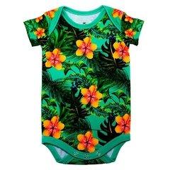 Body Bebê Estampado Verde Tropical - Isabb