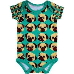 Body Bebê Estampado Pug - Isabb