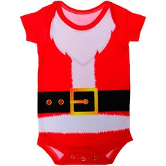 Body Bebê Estampado Papai Noel - Isabb