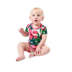 Body Bebê Estampado Hibisco - Isabb