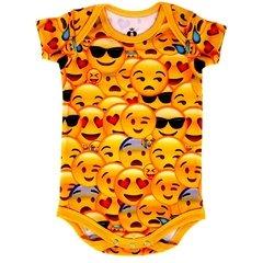 Body Bebê Estampado Emojis - Isabb