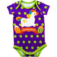 Body Bebê Estampado Unicórnio - Isabb