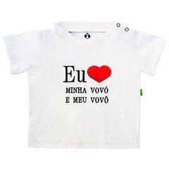 1388c302b Camiseta Infantil Bebê Bordada Manga Curta Branca Algodão Eu