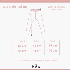 Waw Kids | LEGGINGS PEONIA GIRLS - comprar online