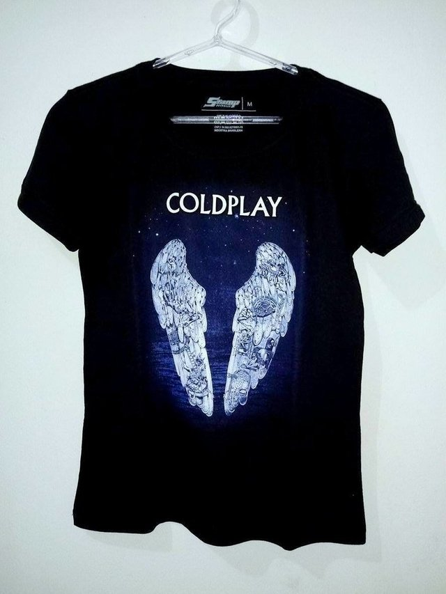 3eb2c3234a Camiseta Stamp Baby Look - Coldplay Wings