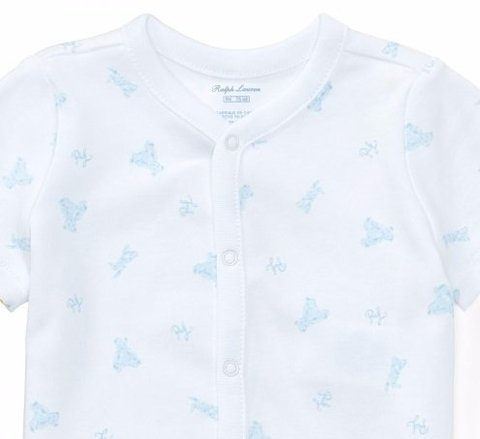 Body algodón Blanco Estampado bebe nene by Ralph Lauren en internet