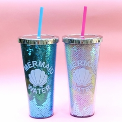 Vaso Mermaid Lentejuelas