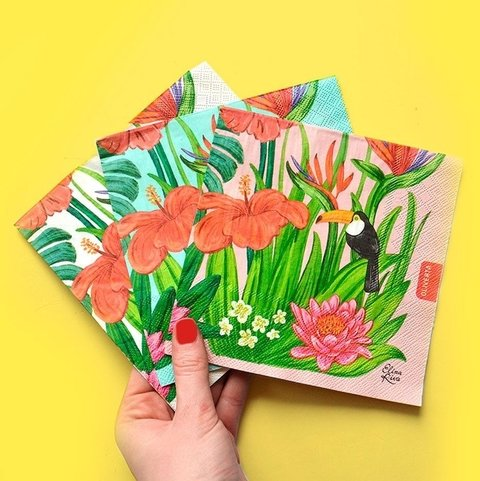 Servilletas Papel Tropical