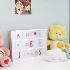 Light Box Rosa Letras Color