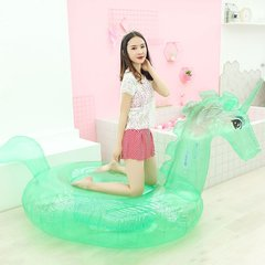 Inflable Unicornio Verde