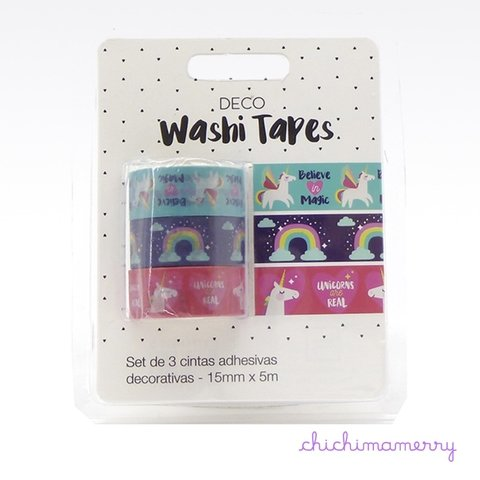 Washi Tapes Unicornio