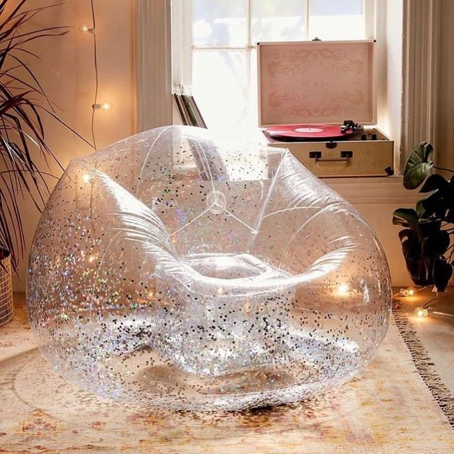Sillon Inflable con Glitter - comprar online