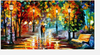 (1324) Pintura com Diamante - Walk in the Rain - 55x35 cm - Total