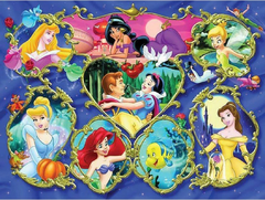 (1403) Pintura com Diamante - Disney 3 - 30x20 cm - Total