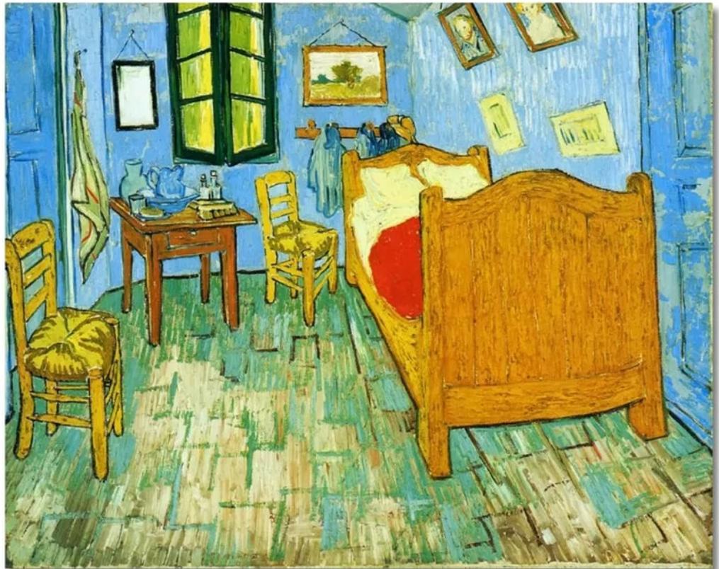 0a6c8d59426 (1481) Pintura em Tela Numerada - Quarto em Arles  Van Gogh