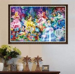 (1200) Pintura com Diamante - As Princesas - 30x20 cm - comprar online