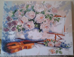 (1267) Pintura em Tela Numerada - Roses for the Soiree - comprar online