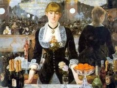 (1027) A Bar at the Folies Bergere; Manet - comprar online