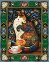 (2073) Pintura com Diamantes - Tapestry Cat 1 - 30x40 cm