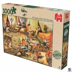 (704) At Home With the Gnomes - 1000 peças