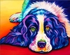 (2146) Pintura com Diamantes - Dog - 30x25 cm