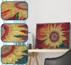 (2149) Pintura com Diamantes - Sunflower - 25x20 cm