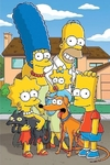 (2185) Pintura com Diamantes - Os Simpsons - 25x35 cm
