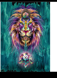 (1306) Pintura com Diamante - Lion Lumineux - 21x30 cm - Total