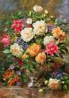 (1313) Pintura com Diamante - Flowers for the Queen Elizabeth - 25x30 cm - Total