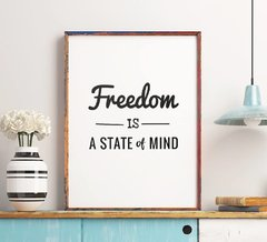 CUADRO FREEDOM IS A STATE OF MIND - comprar online