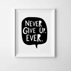 CUADRO NEVER GIVE UP EVER - comprar online
