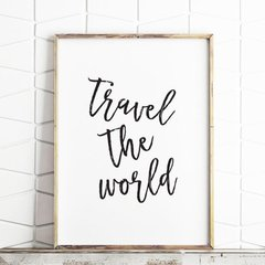 CUADRO TRAVEL THE WORLD - comprar online