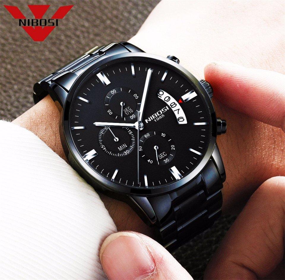 ca1ac4e4961 Relógio Nibosi 100% Blindado Inox Funcional. 54% OFF. 1