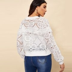 Jaqueta Borda Zip-up Rendas na internet