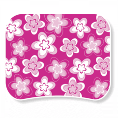 1125-Mouse Pad Flores Pink