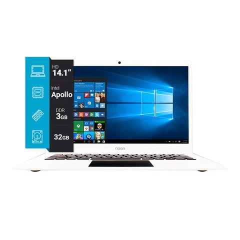 Notebook NOGA 14.1p Apollo Lake 3GB Ram 32GB/ Windows 10 (NNT237)