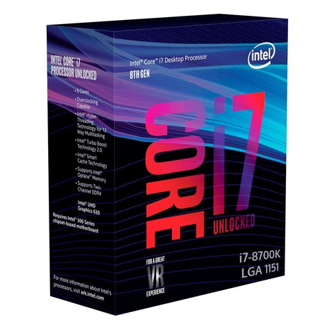 Procesador INTEL CORE i7 8700K S.1151 Box (NPR207)